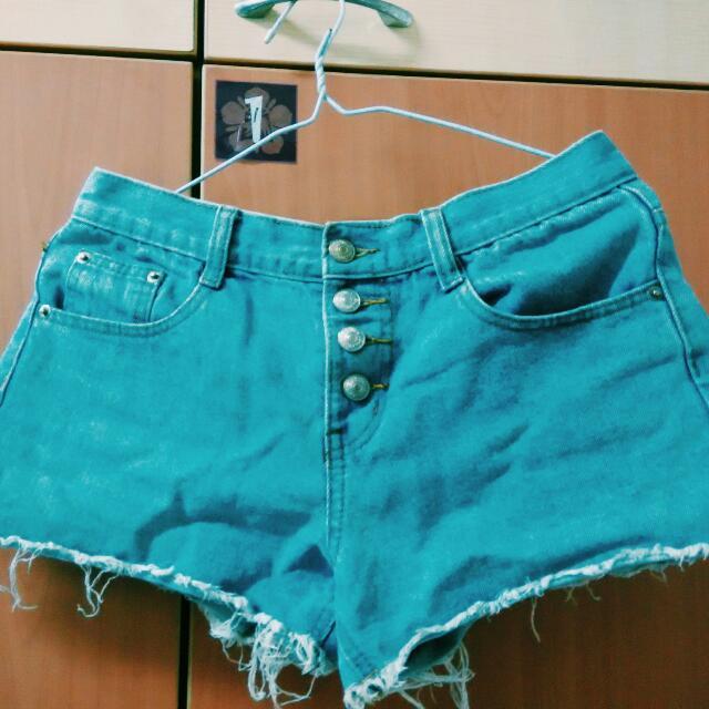 (免運)Queen Shop百搭牛仔短褲(淺藍