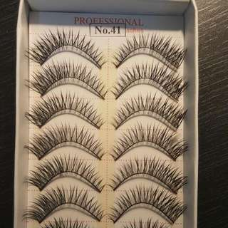 M.O.D.E.L 21 Flase Strip Eyelash Exentions Bulk 10 Pairs - No. 41