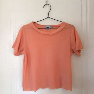 ASOS Peach Scallop Top