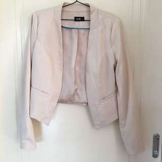 DOTTI Cropped Cream Blazer