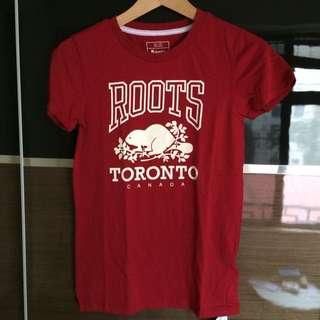 🚚 Roots Toronto系列 T-shirt 8成新 XS