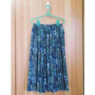 比半價更便宜!花卉日本古著長裙