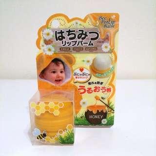 (全新)蜂蜜罐造型護唇膏
