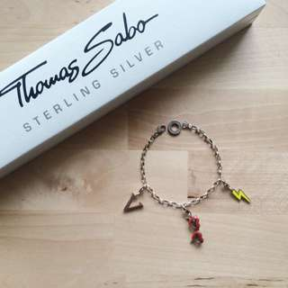 Thomas Sabo Sterling Silver Charm Club 品牌掛飾手環