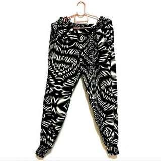 [RARE] Baroque Pj Harem Print Pajama Slack Pants