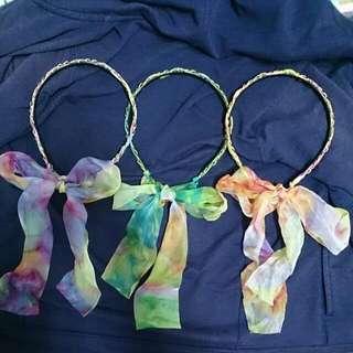 絲巾綁帶髮箍