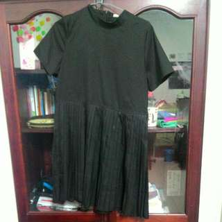 韓版黑色連身裙
