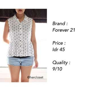 Cross Pattern Sleeveless Shirt