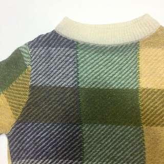日本Child Woman格子毛衣