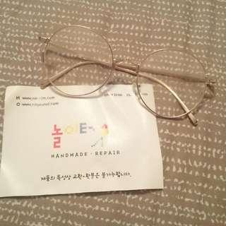 韓國圓框金邊眼鏡