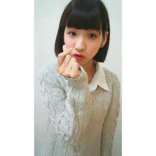 TB✨全新現貨👍韓版米色針織衫
