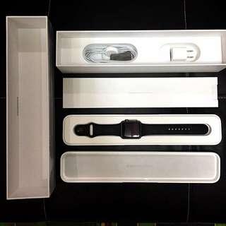 Apple watch 42mm 黑色運動款