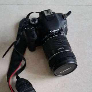 Canon 600D with 18-135mm lens