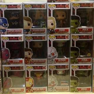 Funko Pop Set Of 13 Avengers 2 Marvel Captain America Thor Ironman Hulk Ultron Hawkeye