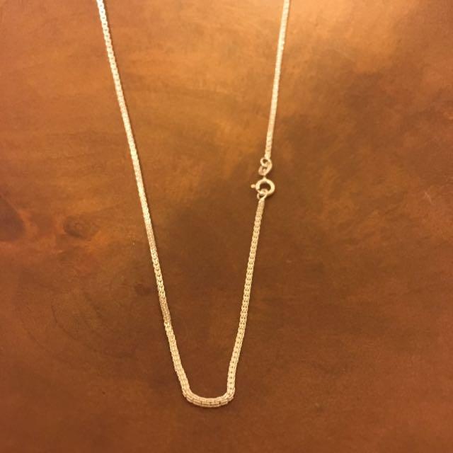 銀飾•925純銀項鍊(16吋單鍊子)
