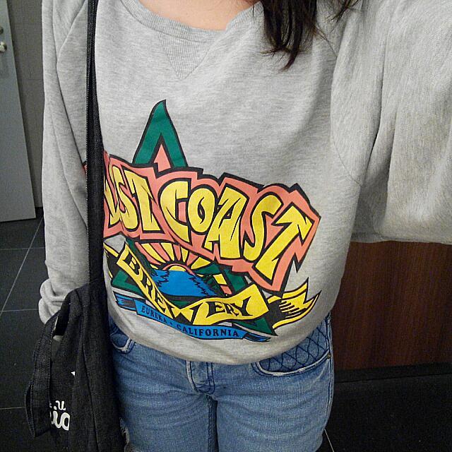 韓系飛鼠袖休閒棉質短版上衣