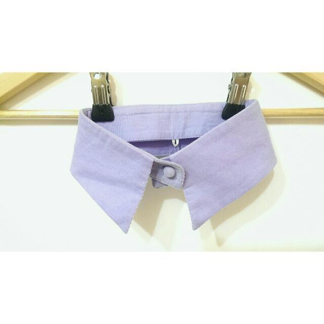 假襯衫領子💜紫色燈芯絨頸圍