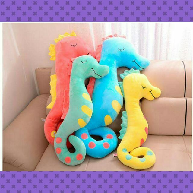 超軟短絨海馬抱枕