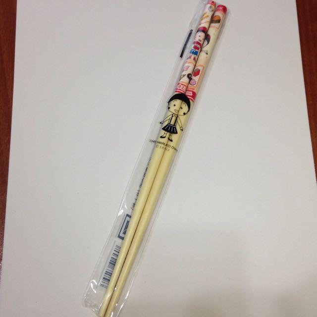 小丸子紐約篇限定版筷子