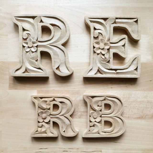 手工木雕 字母擺飾裝飾