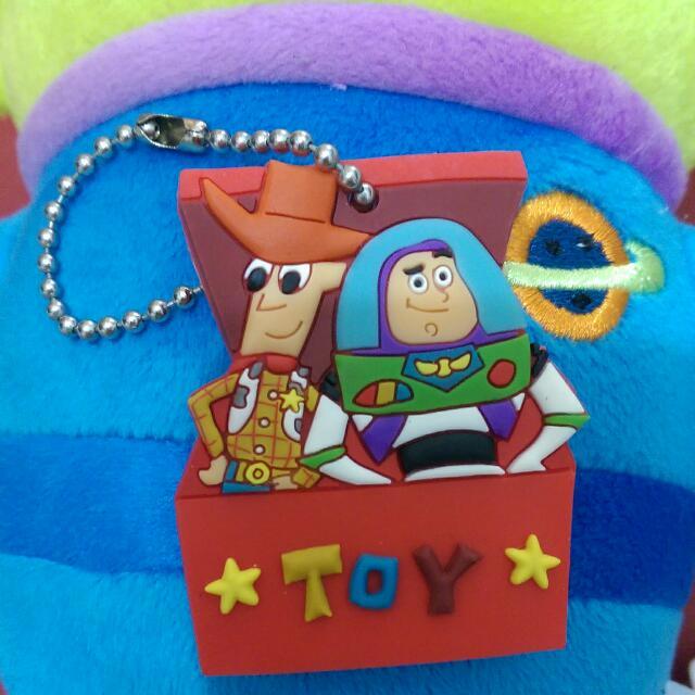 迪士尼 胡迪 巴斯好朋友鑰匙圈