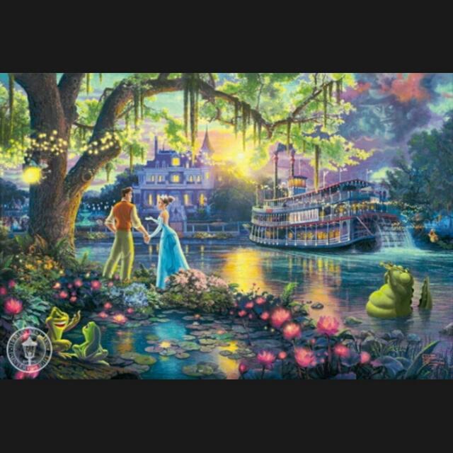 迪士尼 公主與青蛙 蒂安娜公主1000片高品質木質拼圖 益智玩具 聖誕禮物