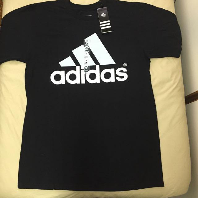 Adidas Logo Black White黑白 短袖 M號