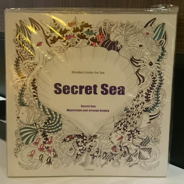 Adult Coloring Book Secret Sea Wonder Under The