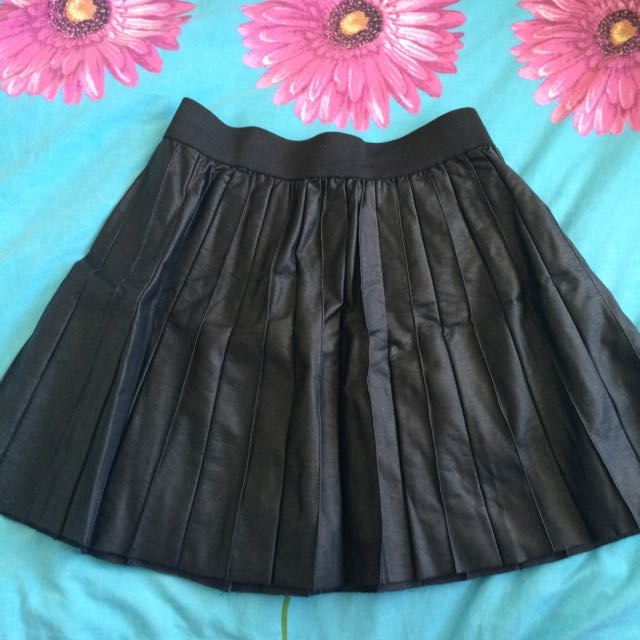 Faux Leather Stater Skirt