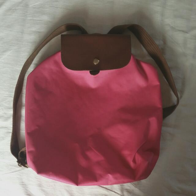 8abe3a9b25b7 RESERVED Fuchsia   Hot pink Longchamp Inspired Backpack