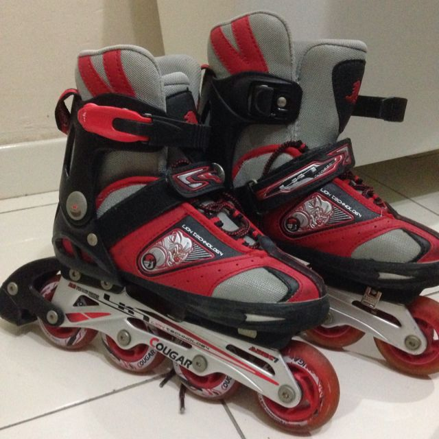 78a999f6a78 Kids Inline Skates Cougar (ABEC-7) Size M, Sports on Carousell