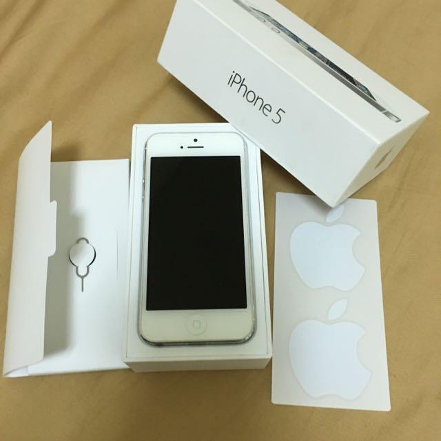 保留中 Iphone5 銀白色 32G