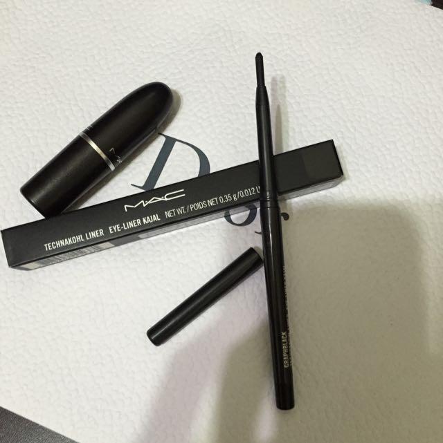 全新Mac黑色超防水眼線筆