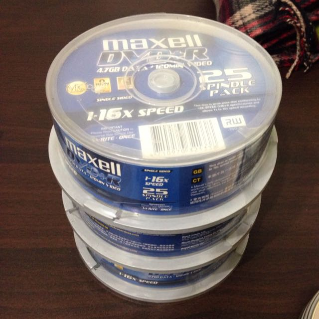 Maxell dvd+r 空白片 & 雜牌dvd,cd