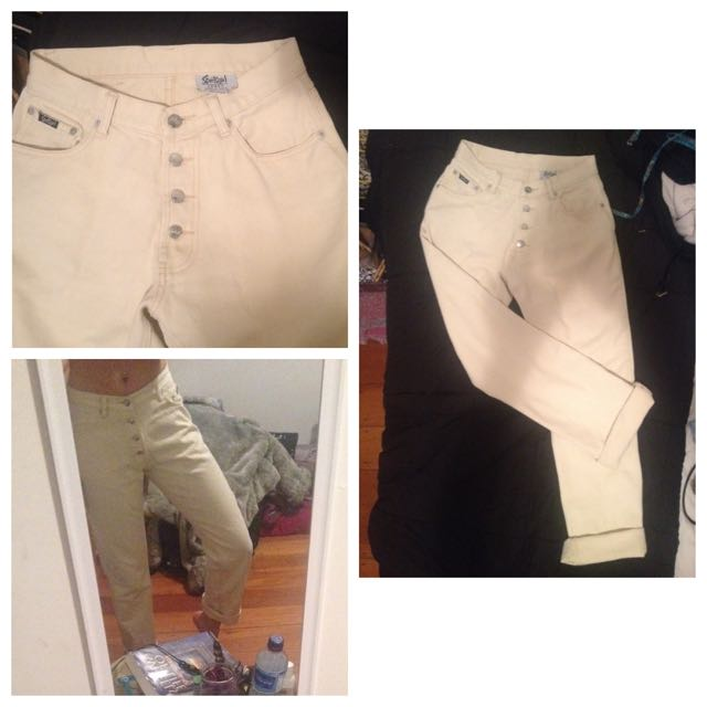 Sports Girl Cream Mid Rise Jeans