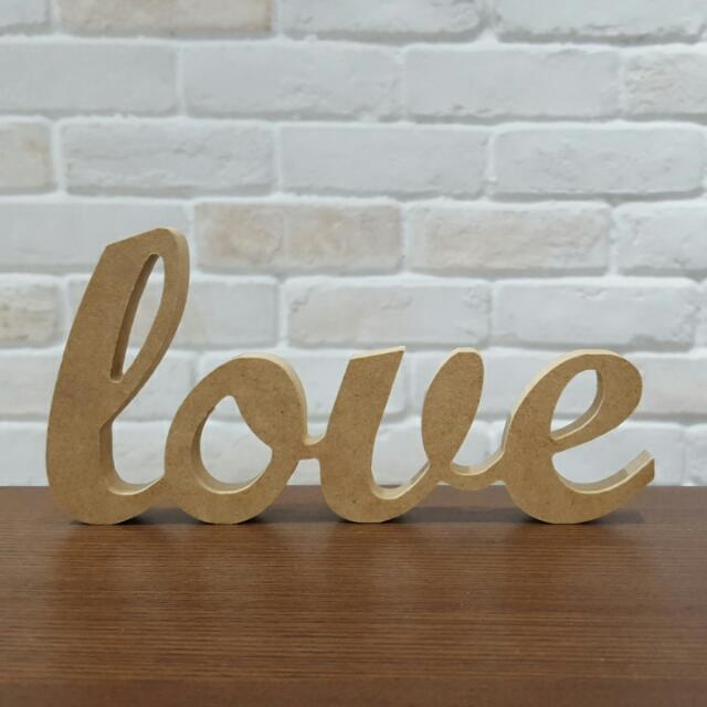 Wooden Love Art