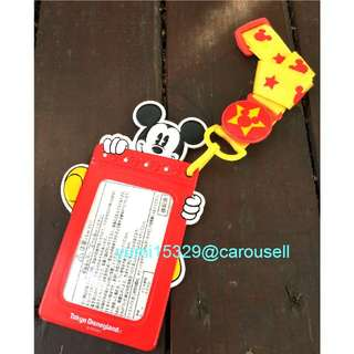 全新 😎日本🇯🇵迪士尼購回 米奇證件卡夾識別證吊帶