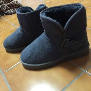 灰色可愛雪靴 38號 近全新