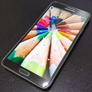 免運費~(二手)三星Samsung Galaxy Note 3 32GB 黑色大全配(3G版)(原廠電池2顆/背蓋2個/鋼化膜/8g記憶卡/原廠耳機/原廠充電組)