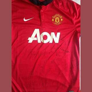 Man Utd Signed Jersey