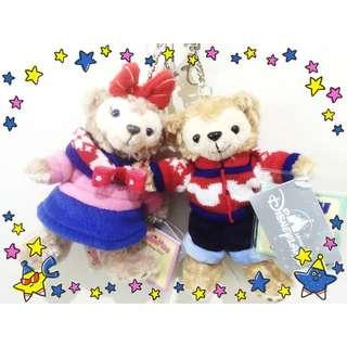 香港 迪士尼 聖誕節 Duffy 達菲 ShellieMay 雪莉玫 買一對更優惠 吊飾  100% 迪士尼 帶回