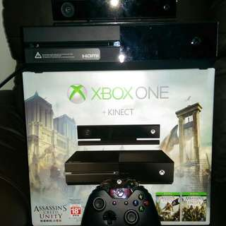 Xbox One 500gb with Kinect And Games