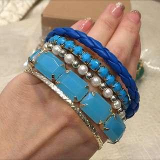 🌹全新含運✨藍色系多層手環