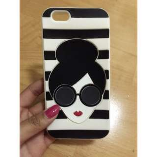 iPhone 6 墨鏡紅唇女孩手機殼