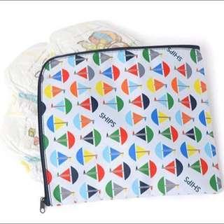 日本親子媽媽雜誌附贈 SHIPS 帆船圖案 尿布包 衛生棉 收納包 收納袋 小物包