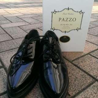 Pazzo24號復古尖頭皮鞋