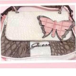 GUESS small leather-like bag with Butterfly
