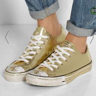 f8054e910809 Converse Brand New Gold Chuck Taylor All Star Metallic Sneakers Size us 9