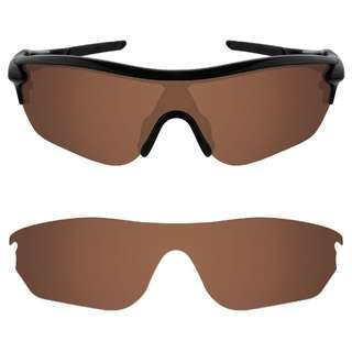 9a0267d264 Dynamix Polarized Replacement Lenses for Oakley RadarLock Edge Earth Brown