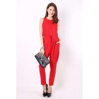 BNWOT Red Jumpsuit
